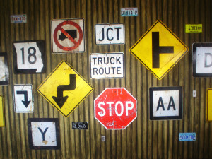 driving school signs