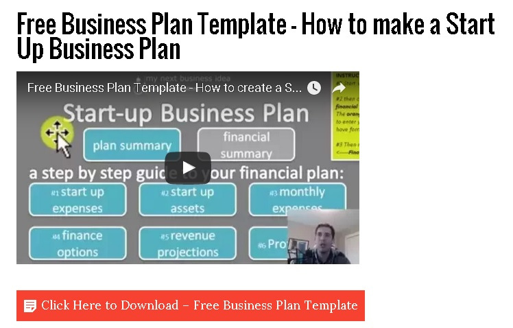 Free business plan template how to make a start up for Start up business plans free templates
